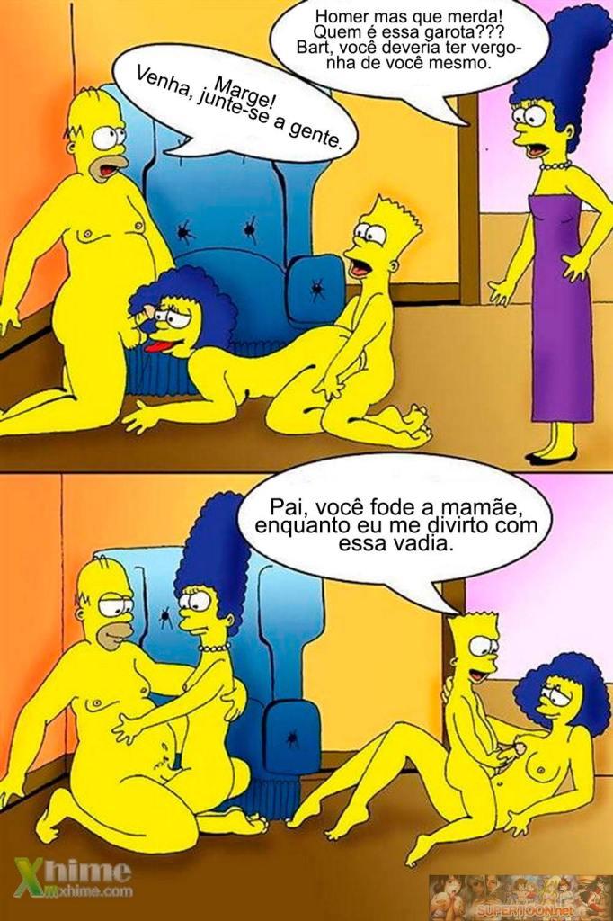 Sexo na casa dos Simpsons – Quadrinhos Eróticos