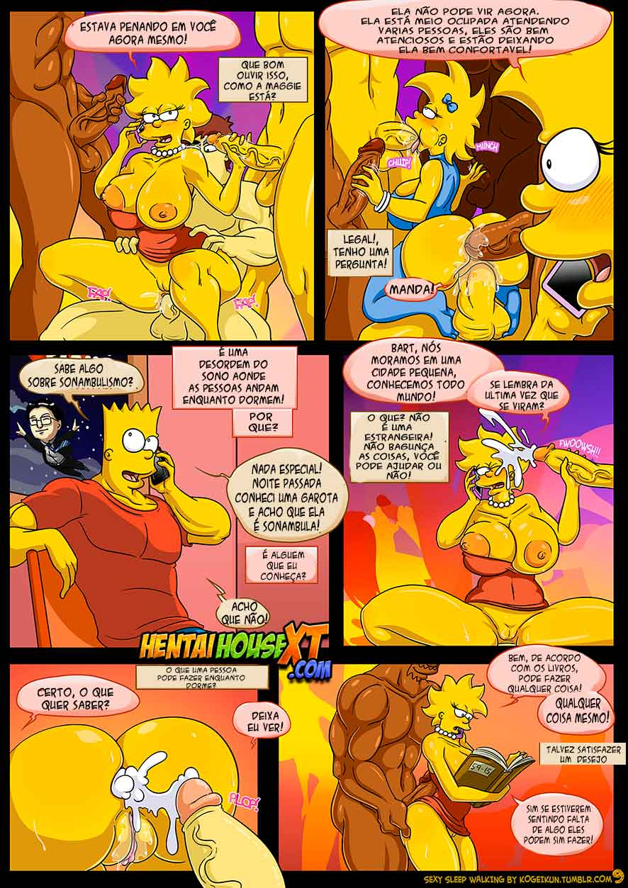 Sexy Sleep Walking (Atualizado) – Os Simpsons – HQ Comics