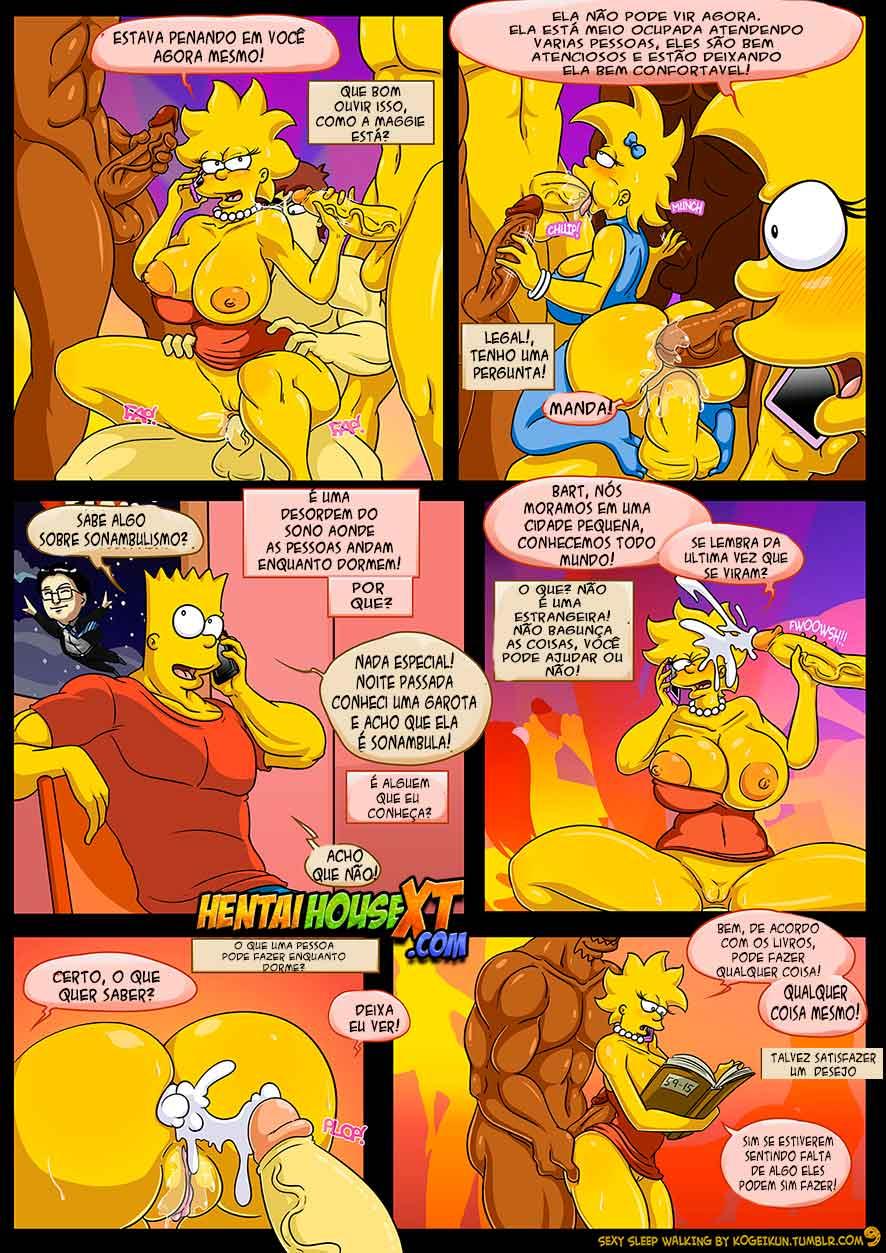 Sexy Sleep Walking (Atualizado) – Os Simpsons – HQ Comics