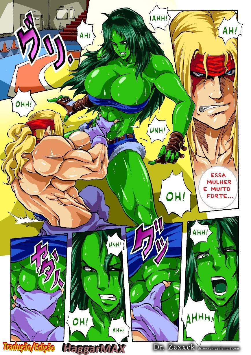 Alex vs She Hulk – Quadrinhos Eróticos