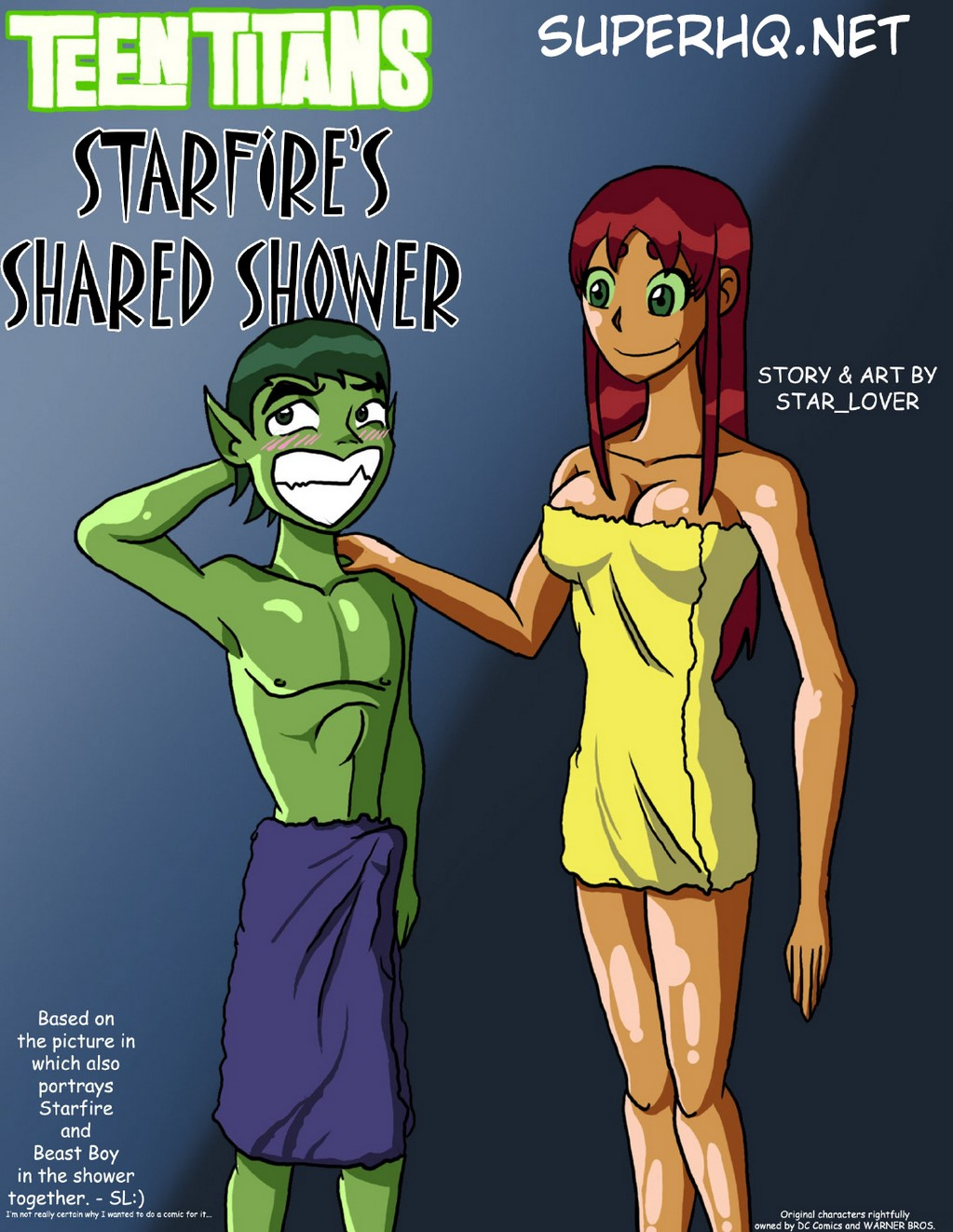 Starfires Shared Shower – Teen Titans