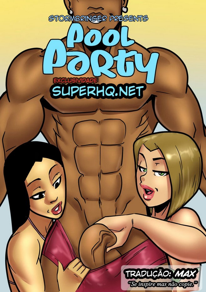 Pool Party- Interracial Comics