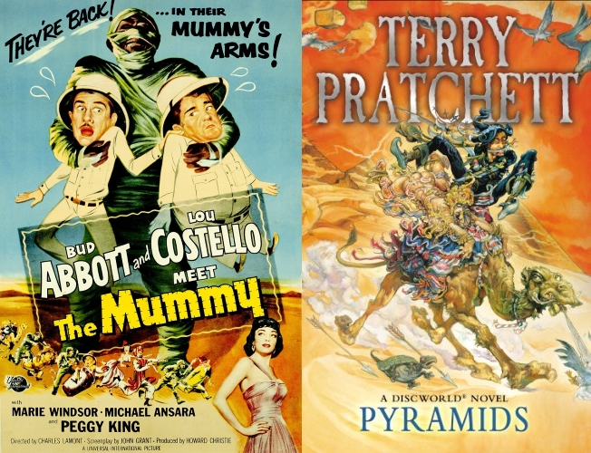 Abbot & Costello Meet the Mummy and Terry Pratchett's Pyramids