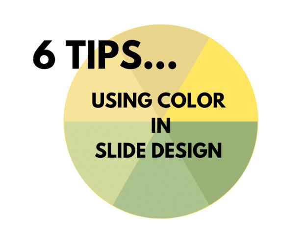 using color in slide design