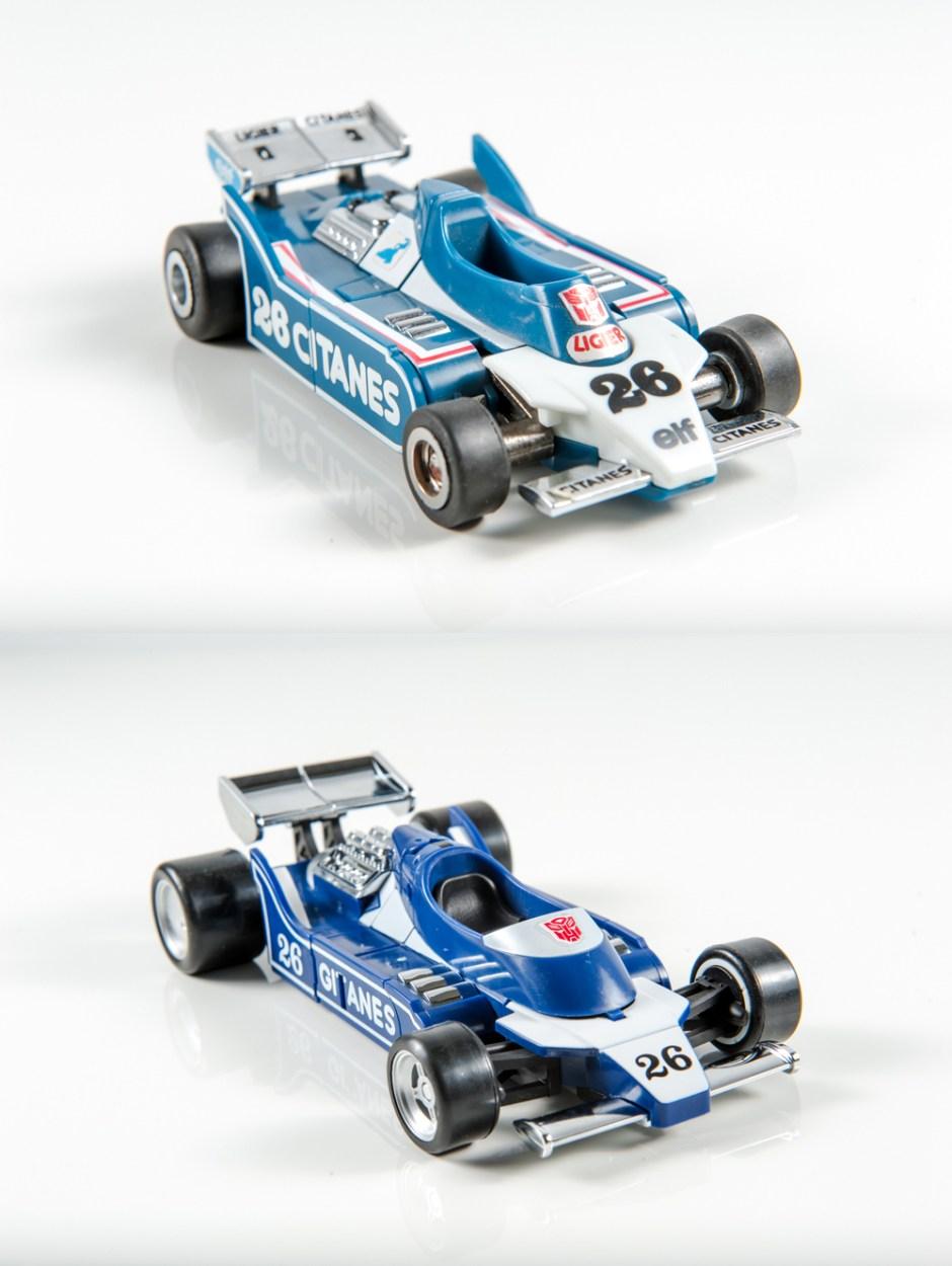 masterpiece mirage dx9 invisible transformers comparison mp g1 ligier js11 race car