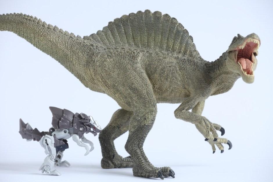 Transformers The Last Knight Grimlock vs spinozaur