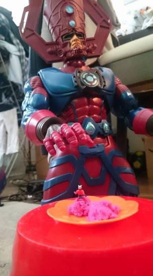 Marvel Universe Masterworks Galactus vs Ant-Man