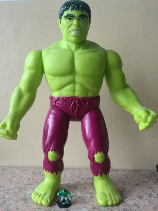 Supersize Super Heros Toy Biz Hulk vs Battle Dice Hulk