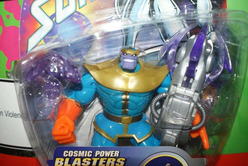 figurka thanos komiksowa toy biz cosmic blaster