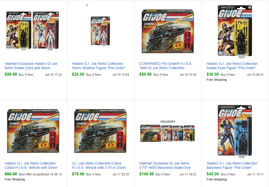 gi joe retro scalpers ebay