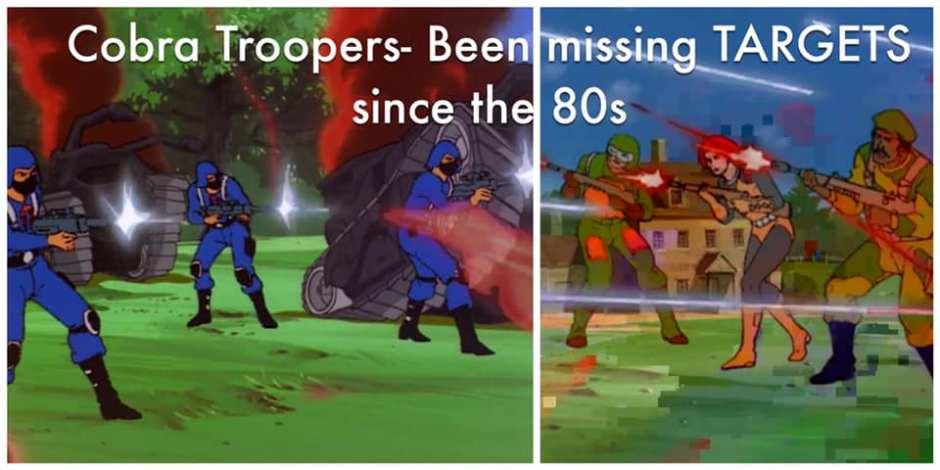 cobra trooper missing targets