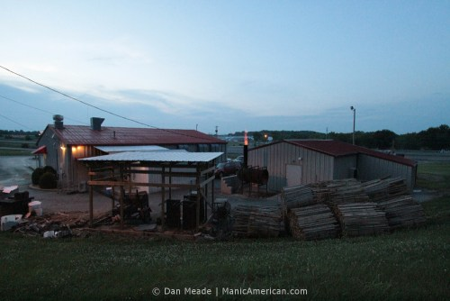 A look at the full expanse of Roy's backyard complex, designed for making Kentucky barbecue.