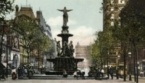 Sweet Tyler Davidson Fountain. circa 1906. The square looks totally different now, but the statue is still there!