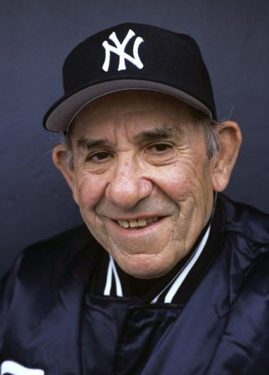 Portrait of New York Yankees guest coach Yogi Berra during spring training photo shoot at Legends Field. Tampa, Florida 3/2/2005 (Image # 1225 )