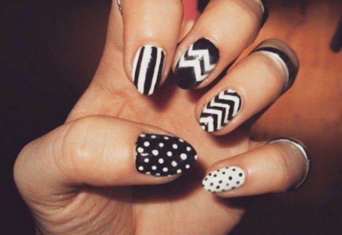 21 Ideas Creativas De Diseño De Uñas En Blanco Y Negro Manicure