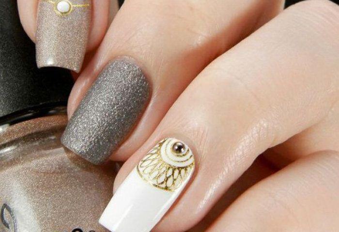 26 Diseños De Uñas De Color Gris Manicure