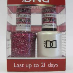 DND Gel Polish / Nail Lacquer Duo - 403 Fuchsia Star