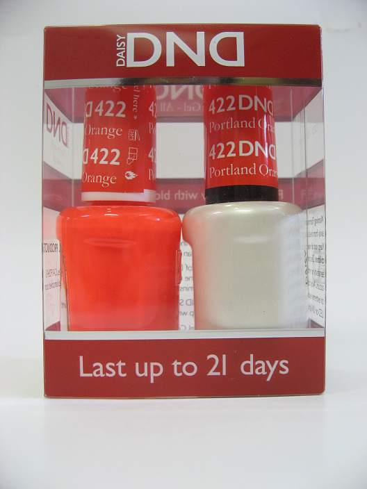 DND Gel Polish / Nail Lacquer Duo - 422 Portland Orange