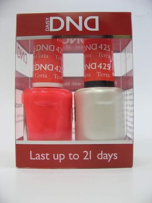 DND Gel Polish / Nail Lacquer Duo - 425 Terracotta