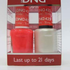 DND Gel Polish / Nail Lacquer Duo - 425 Terracotta