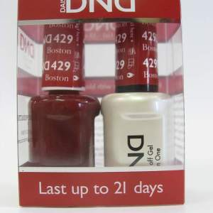 DND Gel Polish / Nail Lacquer Duo - 429 Boston University Red