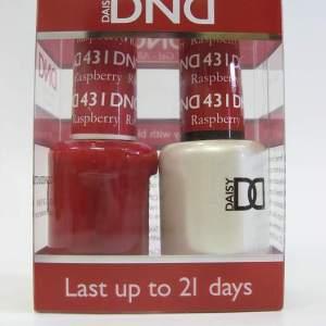 DND Gel Polish / Nail Lacquer Duo - 431 Raspberry