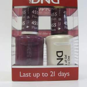 DND Soak Off Gel & Nail Lacquer 455 - Plum Passion