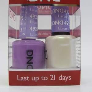 DND Soak Off Gel & Nail Lacquer 492 - Lavender Prophet