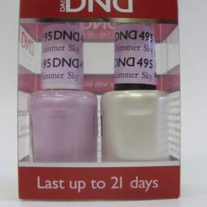 DND Soak Off Gel & Nail Lacquer 495 - Shimmer Sky