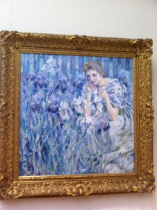 "This is a new find from this trip. It was in the American Wing (not a place I frequent), and it is called ""Fleur de Lis"", by painter Robert Reid."