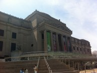 This is the Brooklyn Museum (not sure of what). We sat on the steps to eat chicken & waffles from Shane's cafe.