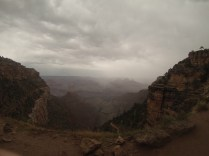 The view from the rim, as a storm approaches.