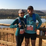 Michele and Kyla before the big-five half marathon