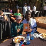 Michele and Rashad after the big-five half marathon