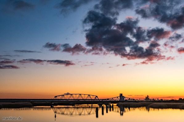 Sonnenuntergang an der Meiningerbrücke bei Zingst auf dem Darß .:. 3.11.2019