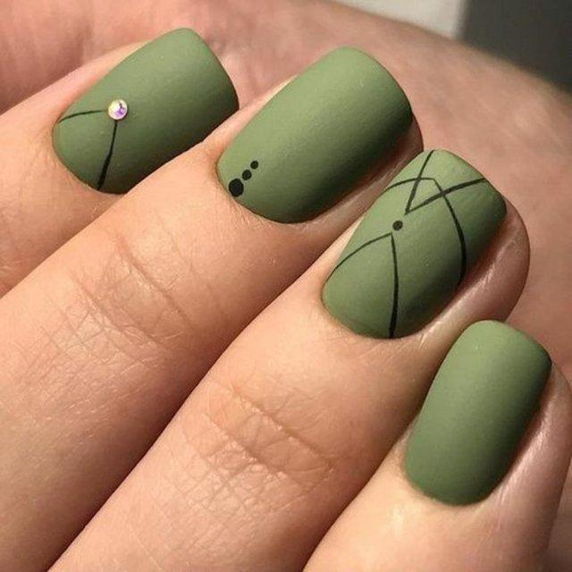 Зеленый маникюр - 5