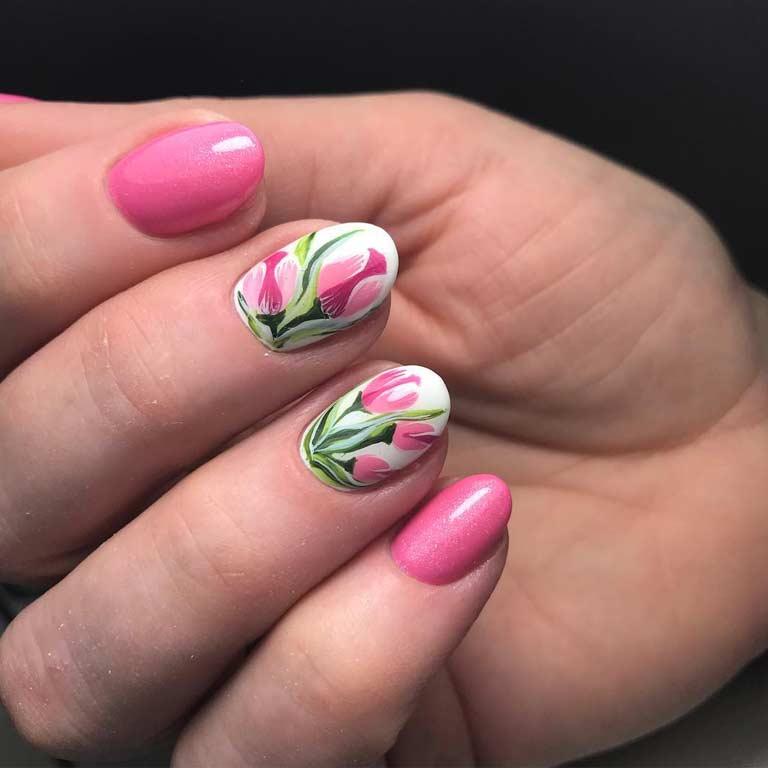 дизайн ногтей на 8 марта 6