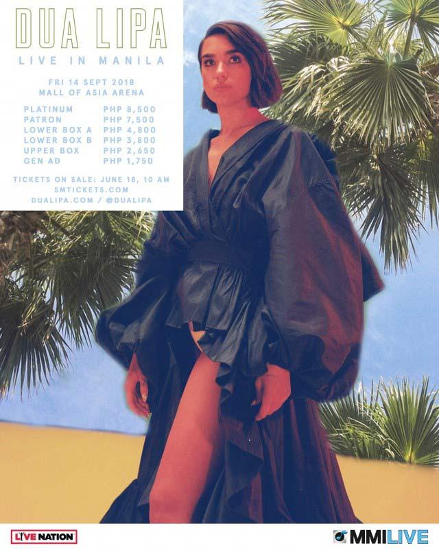 Dua Lipa Live in Manila 2018 poster