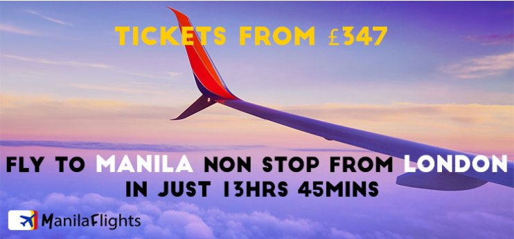 london to manila flight