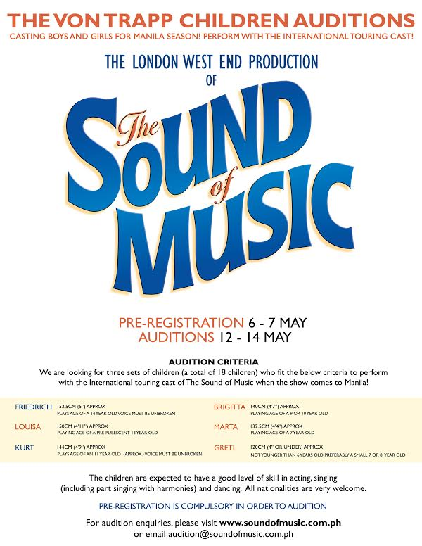 Auditions the sound of music