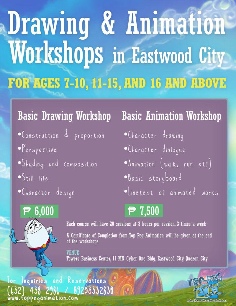 Basic Drawing and Animation Workshop - Eastwood City