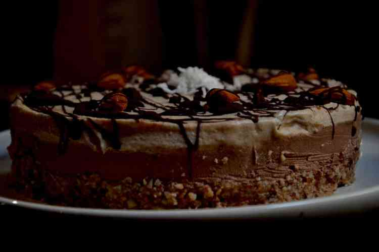 Chocolate Coffee Cheesecake - Vegan, No Bake