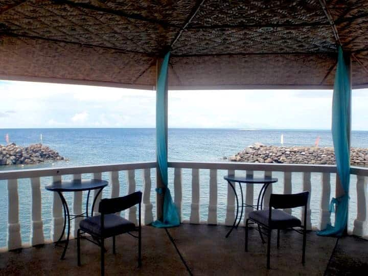 Paras beach resort balcony, Camiguin island, Philippines. maninio.com #tourismphilippines #visitcamiguin