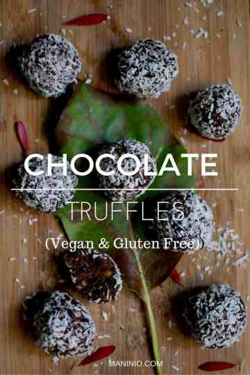 Vegan - maninio - chocolate - truffles
