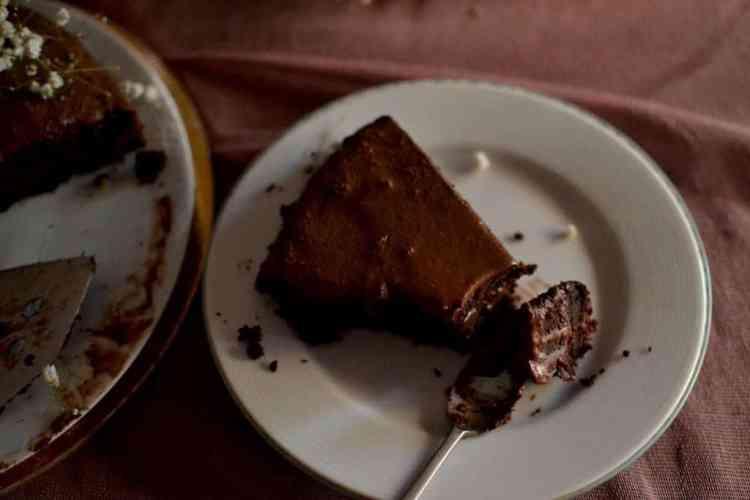Peanut Butter Chocolate Cake, Vegan