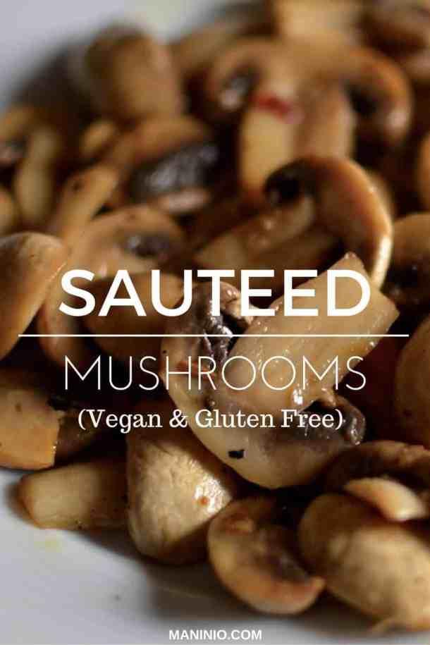 Sauteed Mushrooms with lemon and mandarin - maninio.com -#mushroomssautted #mushroomslove