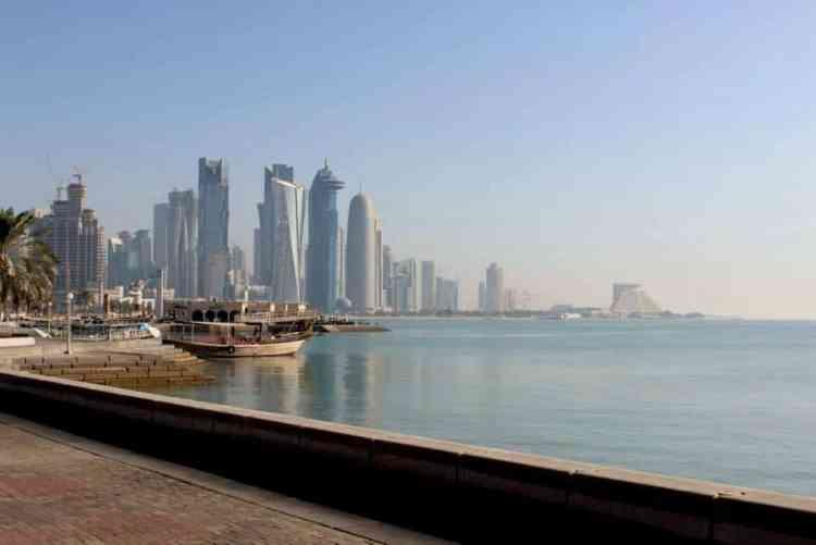 Corniche in Qatar maninio.com #constructiondoha #pearlqatar