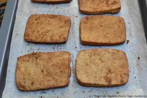 Baked Tofu maninio.com #veganprotein #proteinsources