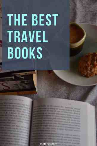 The best Travel books, coffee with a book. maninio.com  #travelbooks #bookslove