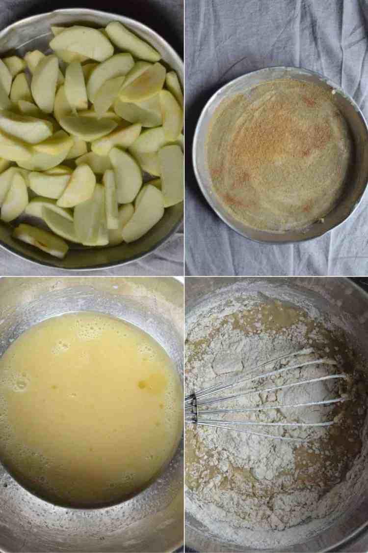 Upside-down Vegan Apple pie, procedure maninio.com - Vegan #veganapplepie #veganpies